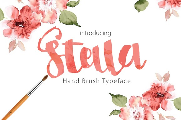 Stella Script Typeface