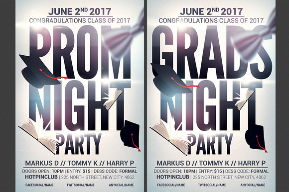 Prom-Graduation Night Party Flyer