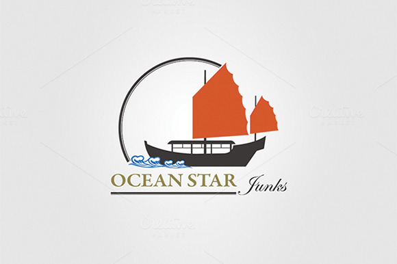 Ocean Travel And Cruise Logo Vol.03