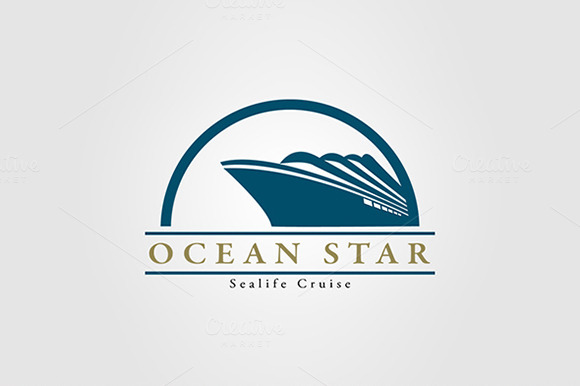 Ocean Travel And Cruise Logo Vol.04