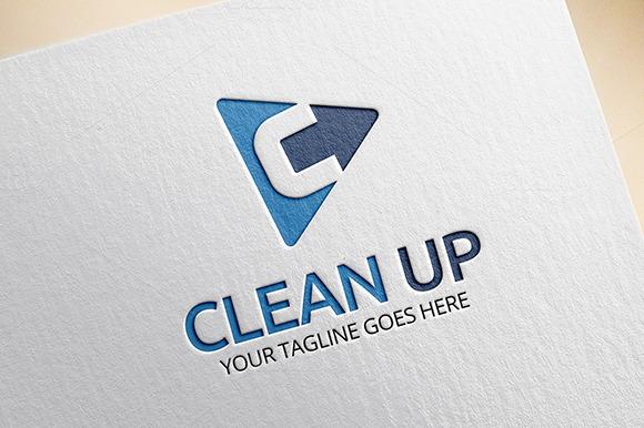 Clean Up C Letter Logo
