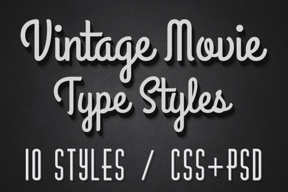 Vintage Movie CSS Type Styles