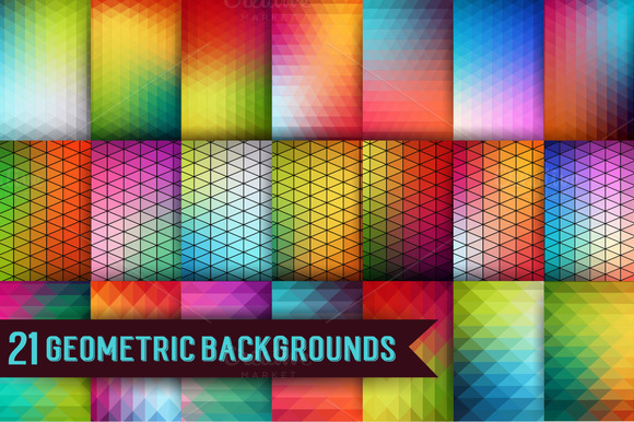 21 Geometric Backgrounds