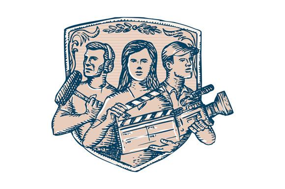 Film Crew Clapperboard Cameraman Sou