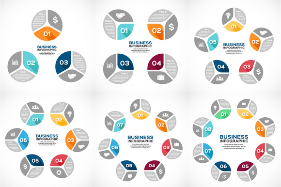 Circle Color Diagrams Flat Design