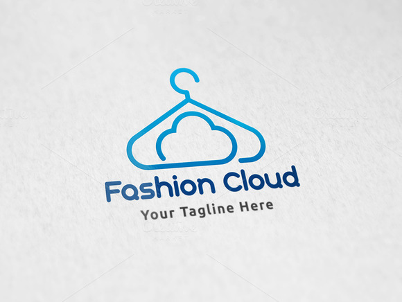 Cloud Fashion Logo Template