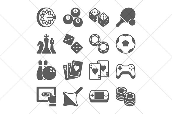 Games And Toys Icons