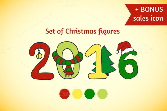 Set Of Christmas Figures BONUS