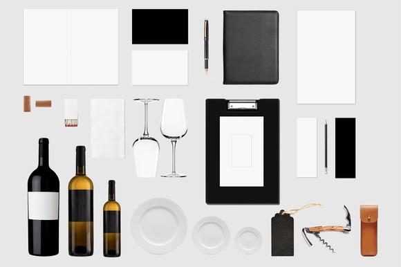 Branding Mockup Wine Store