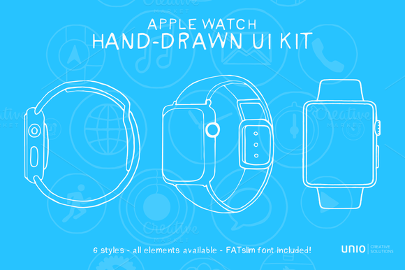 Apple Watch Handdrawn UI Kit