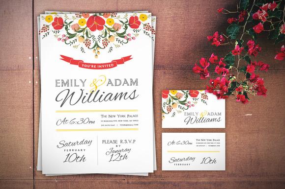 Wedding Invitation Business Card