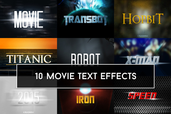 Movie Text Effects