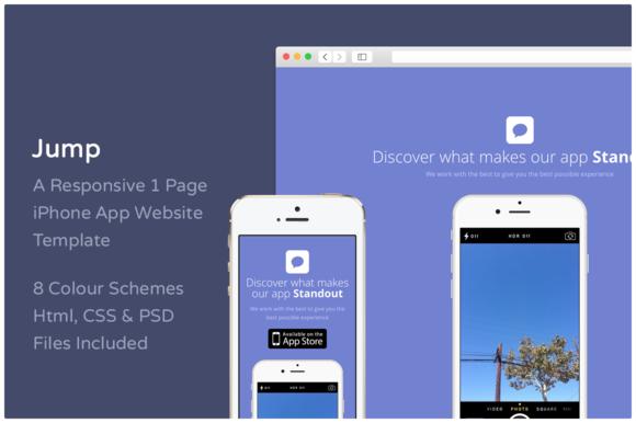 Jump IPhone App Website Template
