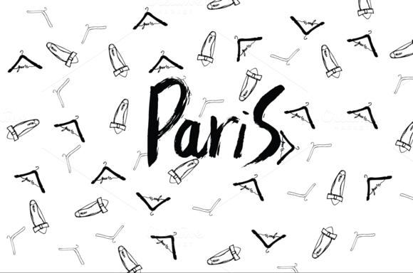 Paris Sketch Clothes Hanger