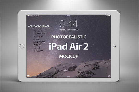 Apple IPad Air 2 Mock Up