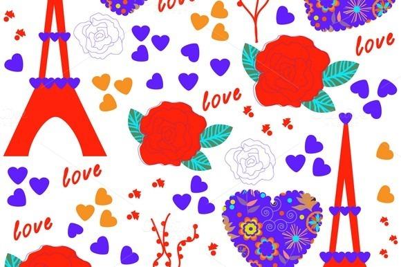 Vector Romantic Texture