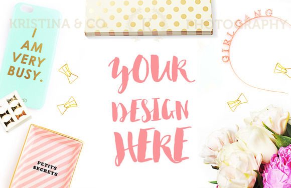 Fashion Girl Desk Mockup