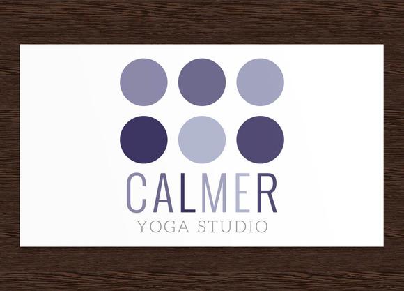 Calmer Yoga Studio Logo PSD