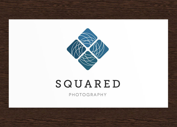 Squared Photography Logo PSD
