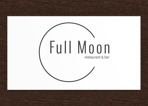 Full Moon Restaurant Logo PSD