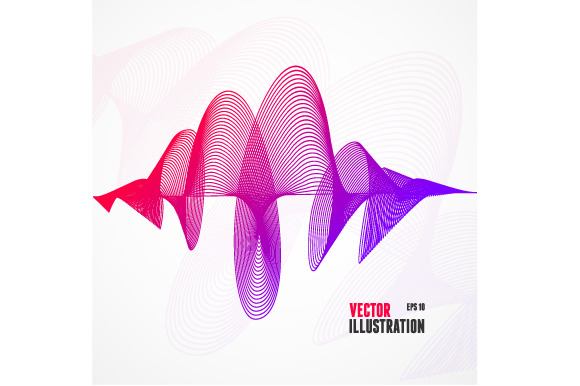 Vector Abstract Colorful Wave