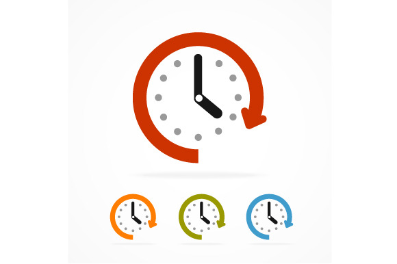 Vector Color Clock Icon