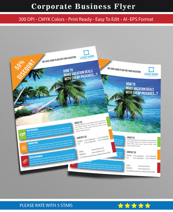 Corporate Travel Business Flyer
