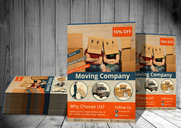 Move My Baggage PSD Flyer