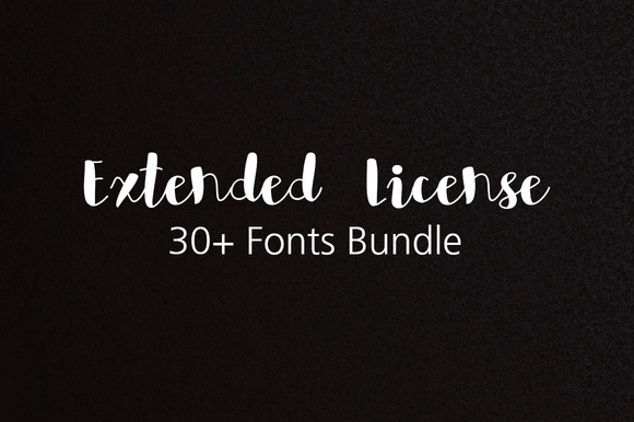 Extended License For 30 Fonts Bundle
