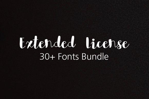 Extended License For 30 Fonts Bundle