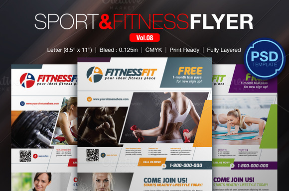 Sport Fitness Flyer Vol.08