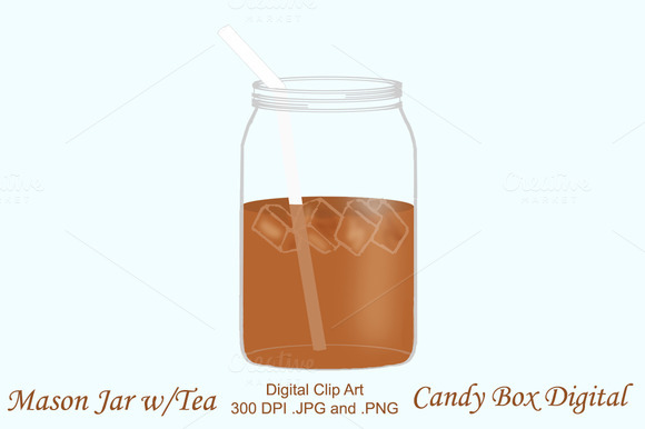 Mason Jar With Tea Clipart