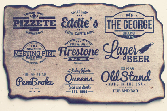9 Retro Labels