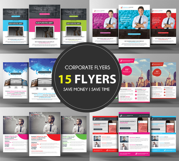 15 Corporate Business Flyers Bundle