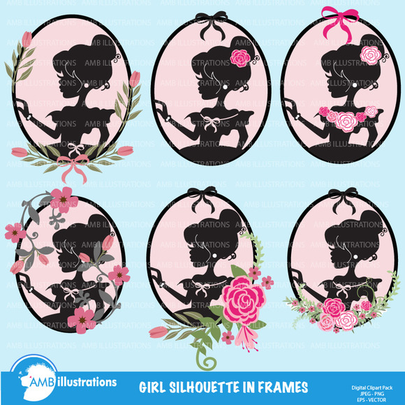 Girls In Silhouette Frames 854