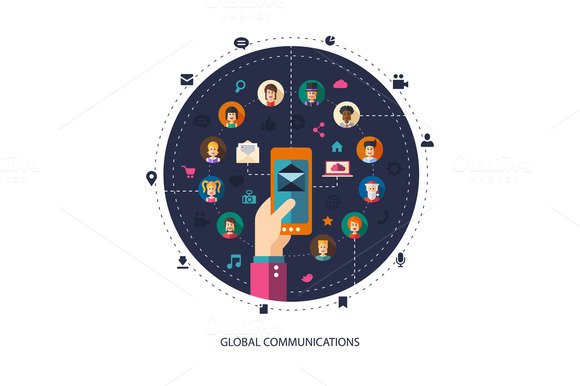 Global Communication Illustration
