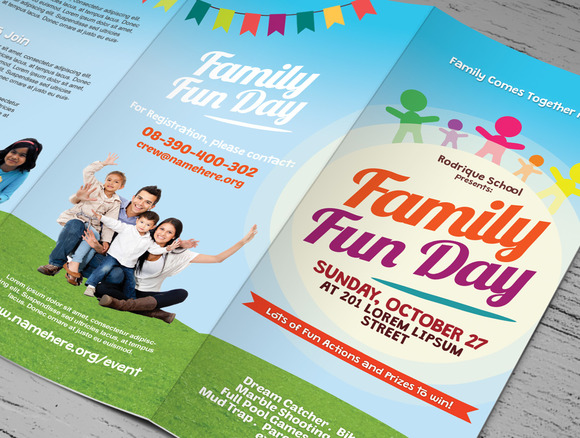 Family Fun Day Trifold Brochures