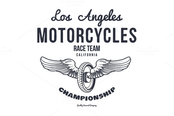 Motorcycle Typography T-shirt
