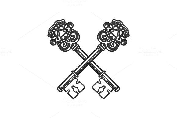 Crossed Keys Isolated