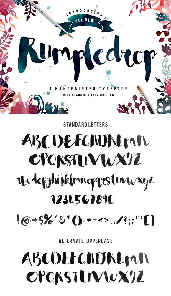 Rumpledrop Typeface Mega Pack 20%off