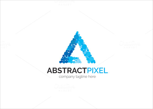 Abstract Pixel Logo