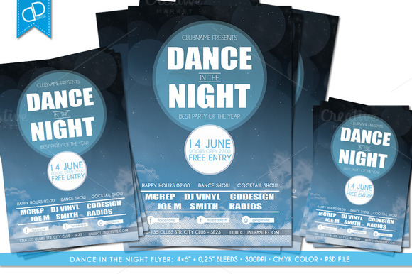 Dance In The NIGHT Flyer