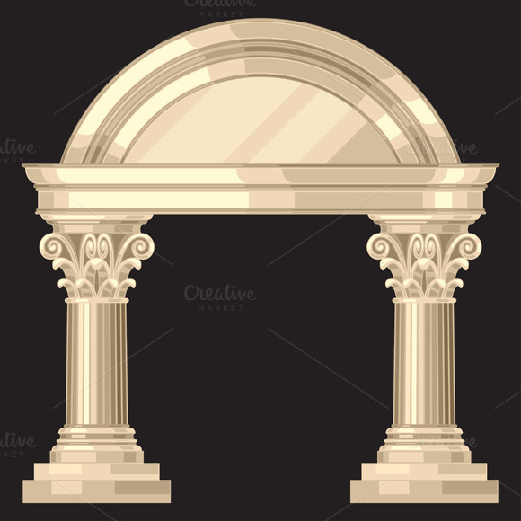 Corinthian Temple With Columns