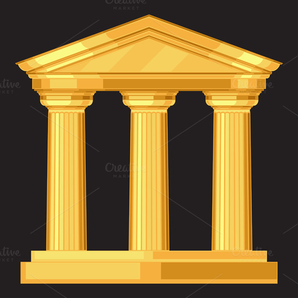 Doric Antique Temple With Columns