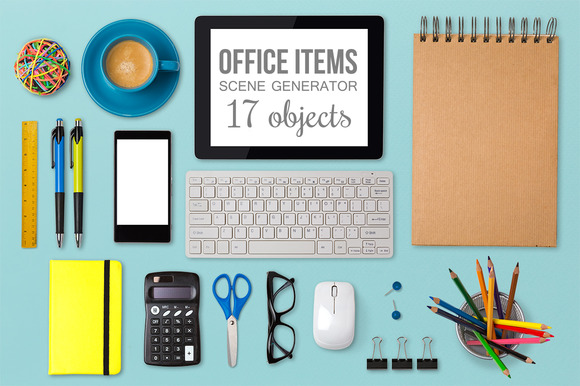 Office Items Scene Generator