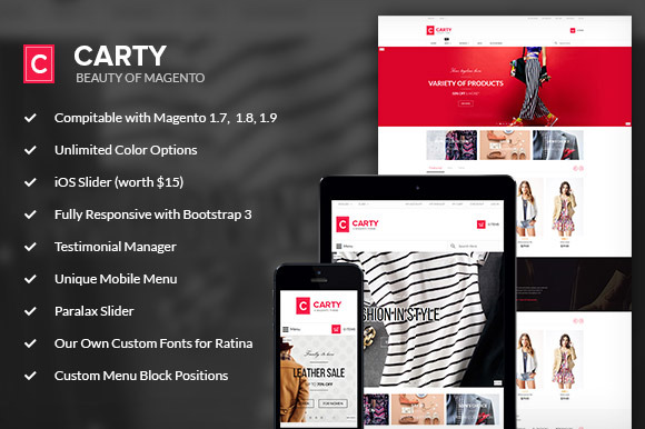 Carty Magento Responsive Theme