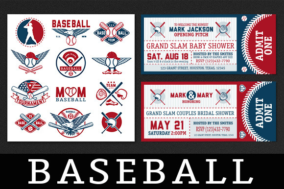Baseball Labels And Badges