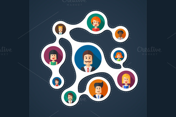 Business Network Illustration