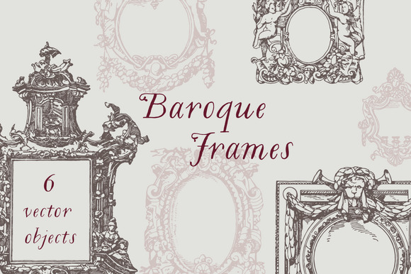Baroque Frames Vector Pack
