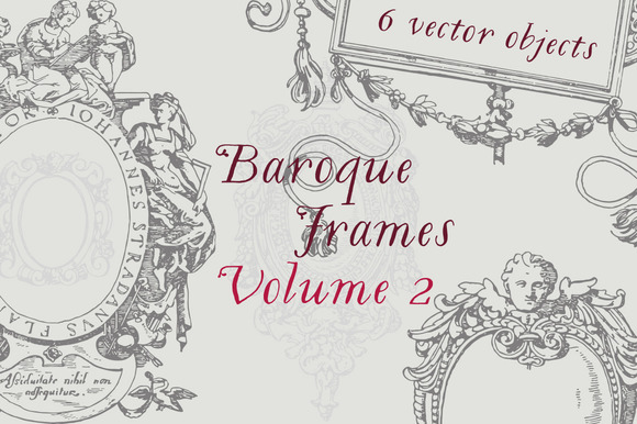 Baroque Frames Vector Pack Vol 2